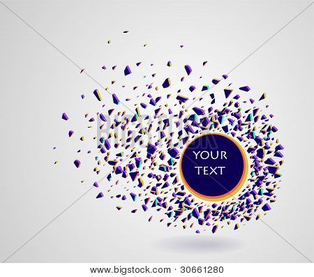 Abstract Vector Shattered Shapes Background