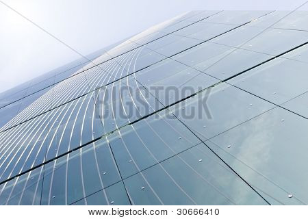 Abstract background of modern building windows, Lisbon, Portugal
