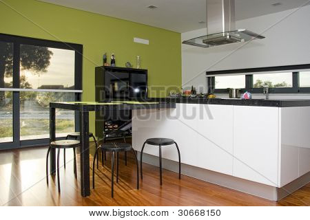 Modern kitchen interior at a new home