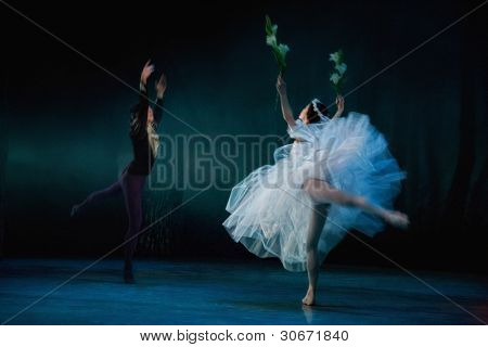 PRAGUE, CZECH REPUBLIC - APRIL 6: The Prague State Opera ballet ensemble presents the traditional version of Giselle on April 6, 2011 in Prague, Czech Republic.