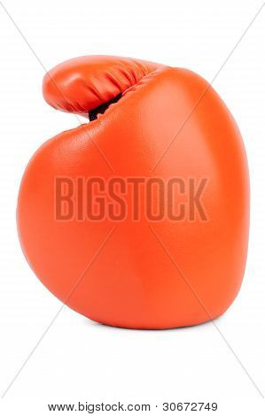 Orange Boxing Glove Closeup