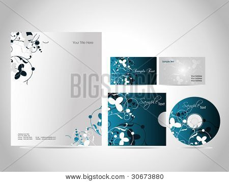 Stock Vector Illustration, style identity kit for your business.