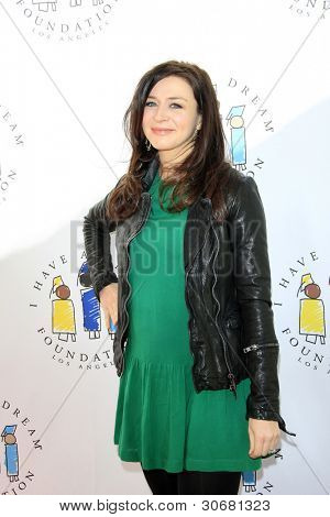 LOS ANGELES - MAR 4:  Caterina Scorsone arrives at the  Have A Dream Foundation's 14th Annual Dreamers Brunch at the Skirball Cultural Center on March 4, 2012 in Los Angeles, CA