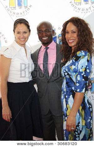 LOS ANGELES, CA - MAR 4: Amy Brenneman, Taye Diggs, Channing Dungey at the I Have A Dream Foundation's 14th Annual Dreamers Brunch at The Skirball Cultural Center on March 4, 2012 in Los Angeles, CA