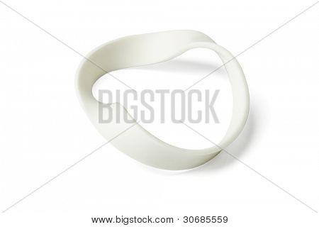 Twisted Wristband on Isolated White Background