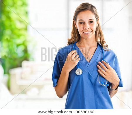 Beautiful nurse protrait