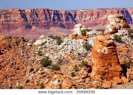 Red Mesa Orange Rocks Canyon Arizona