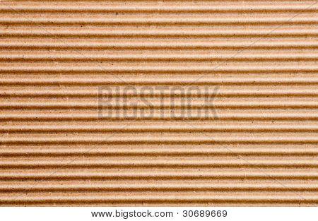 a sheet of corrugated cardboard
