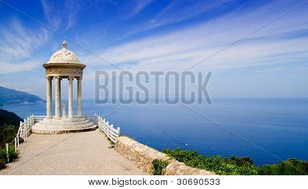es Galliner mirador in Son Marroig over Mediterranean Majorca sea