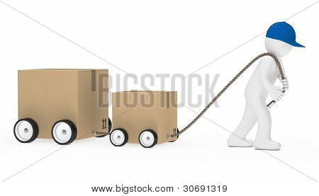 Man Draws Package