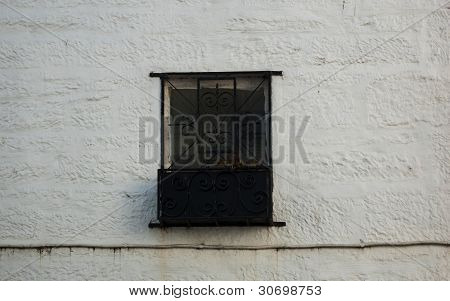 Steel corrigated window