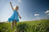 Little Girl On Sunny Meadow poster