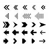 Arrows Big Black Set Icons. Arrow Icon. Arrow Vector Collection. Arrow. Cursor. Modern Simple Arrows poster