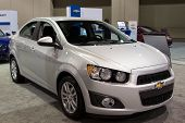 JACKSONVILLE, FLORIDA-FEBRUARY 18: A 2012 Chevy Sonic Sedan at the Jacksonville Car Show on February