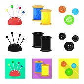 Isolated Object Of Craft And Handcraft Symbol. Set Of Craft And Industry Vector Icon For Stock. poster