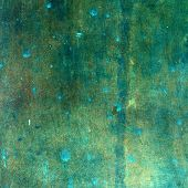 Green grungy copper texture