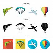 Isolated Object Of Transport And Object Logo. Collection Of Transport And Gliding  Stock Symbol For  poster