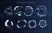 Technology Futuristic Modern User Interface Circle Shapes. Hud Elements. Futuristic Sci Fi Abstract  poster