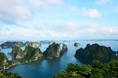 Ha Long Bay, Vietnam - June 10, 2019: View Over Ha Long Bay, Vietnam. Tourist Attractions Very Popul poster