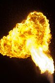 picture of breather  - Fire explosion from an fire - JPG