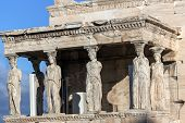 The Porch Of The Caryatids In The Erechtheion At Acropolis Of Athens, Attica, Greece poster