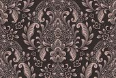 Vector Damask Seamless Pattern Element. Classical Luxury Old Fashioned Damask Ornament, Royal Victor poster
