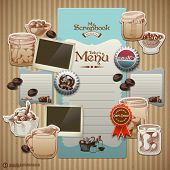 Vector Retro Scrapbook Element for Cooking Diary