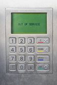 keypad of ATM (Automated Teller Machine) - Out of service status