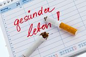 Постер, плакат: отказ от курения хорошее разрешение в календаре будет запрещено курить