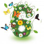 stock photo of six-petaled  - Beautiful spring number  - JPG