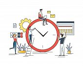 Time Management, Distribution Of Priority Of Tasks, Strategic Planning, Organization Of Working Time poster