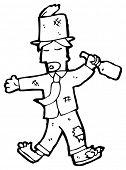 stock photo of hobo  - cartoon drunk hobo - JPG