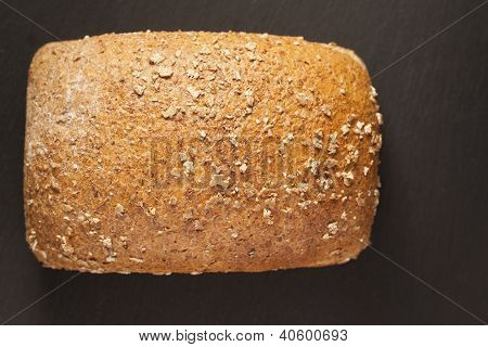 bread on a dark background