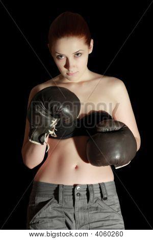 Girl In Boxing Glove