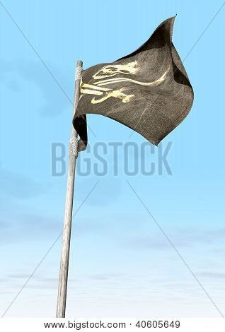 Jolly Roger Pirate Flag Far