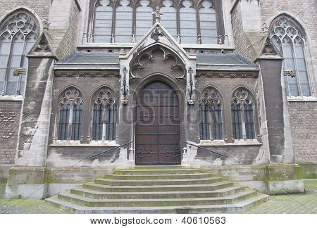 Side Entrance Of The Church Of Saint Peter And Saint Paul. Ostend, Belgium