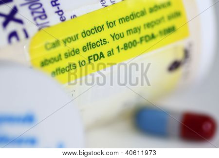 Medical warning label concept of government administration