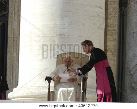 Pope Benedict at St. Peters Basilica 11-9-11