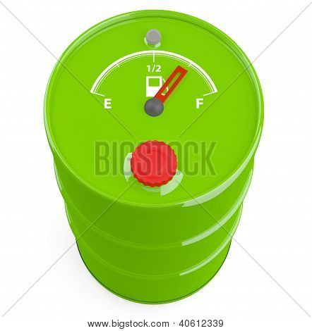 Fuel Gauge Icon On Barrel. 3D Model