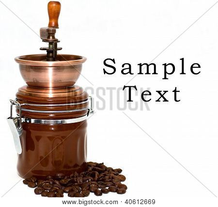 Coffee Mill Isolated On White Background