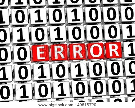 3D Word Error Inside Zero One Blocks