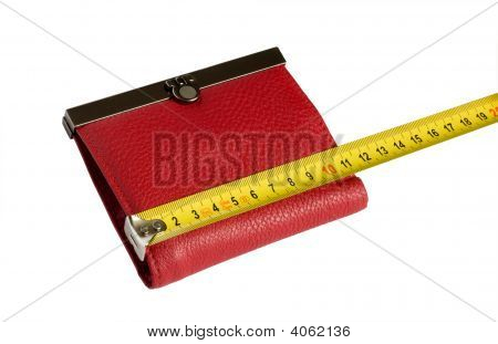 Red Wallet And Yellow Tape Measure