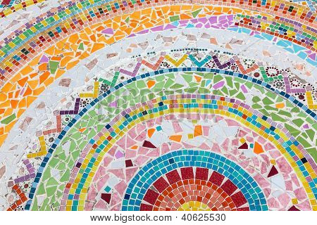 Colorful Tile Curve Pattern Background