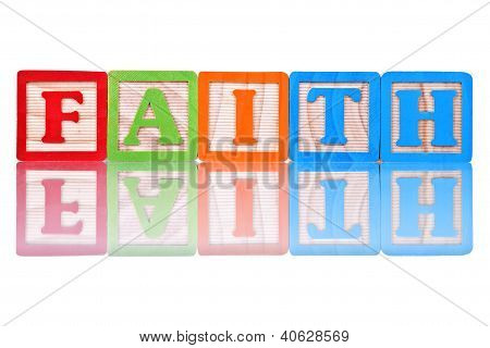 Alphabet Blocks Faith