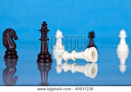 Checkmate - black defeats white