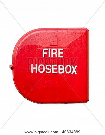 Red Fire Hose Box