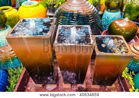 Decorative Water Fountain Jar