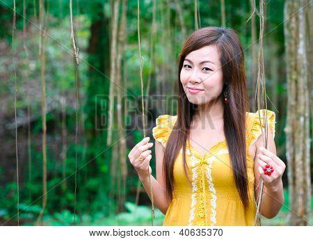Portrait Of Asian Women