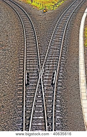 Tracks Going Left And Right