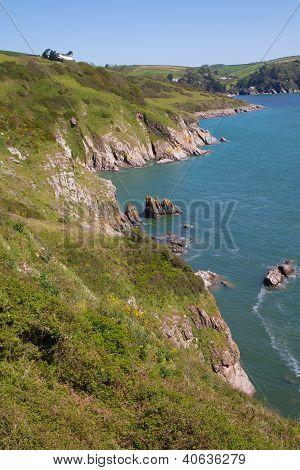 South Devon coast near Dartmouth England